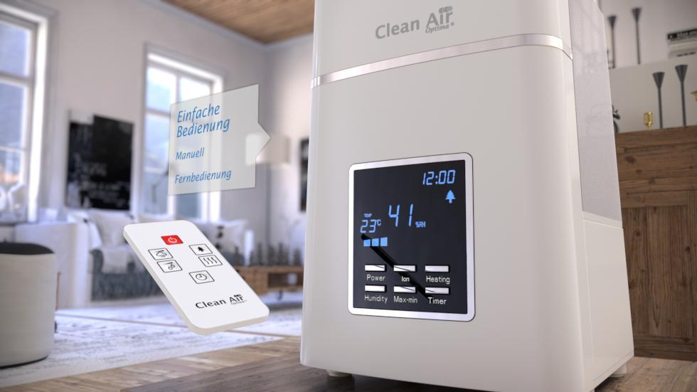 CA-604 Befeuchtet, reinigt, erfrischt und verbessert die Luftqualität.