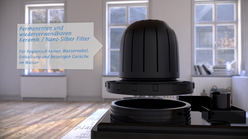 Der Clean Air Optima CA-604B bietet die Perfekte Kombination von wirkungsvolle Ultraschall Luftbefeuchtung mit Ionisationsluftreinigung.