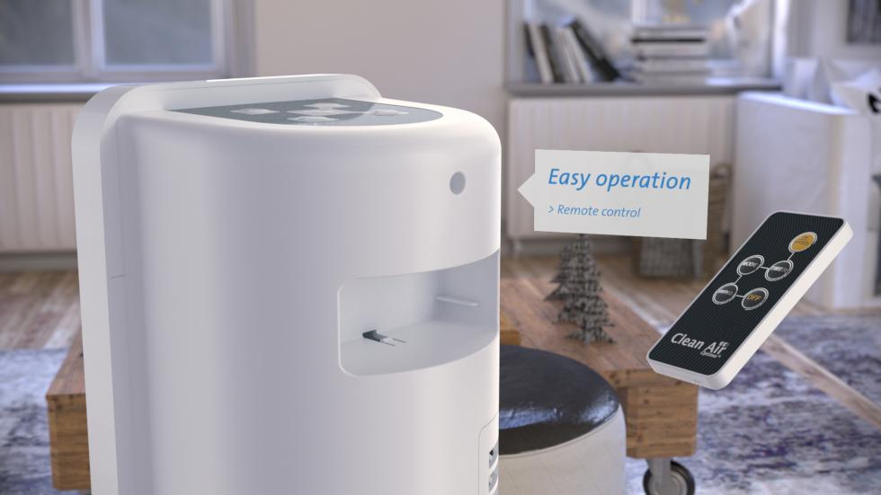 Ideal für angenehm kühlende Luft in Wohnräume und in Büros während der warmen Tage