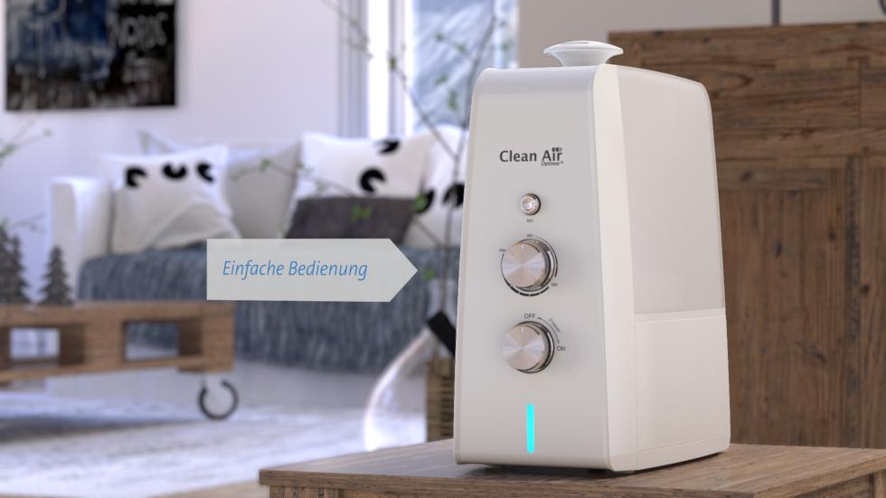 Ultraschall Luftbefeuchtung, Luftreinigung durch den Ionisator, Ultraschall Aromazerstäuber
