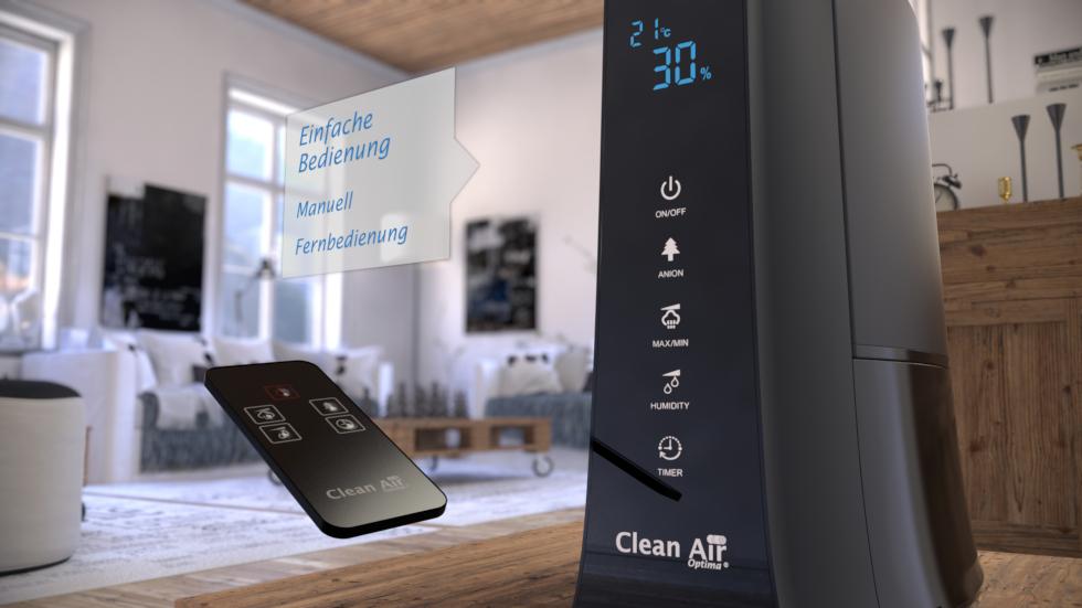 Luftbefeuchter mit Aromatherapie!, Kein Filteraustausch notwendig!