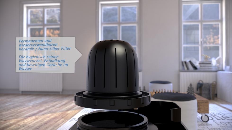 inzigartiger Luftbefeuchter durch Kreativer Anwendung von Technologie, Design und Komfort!