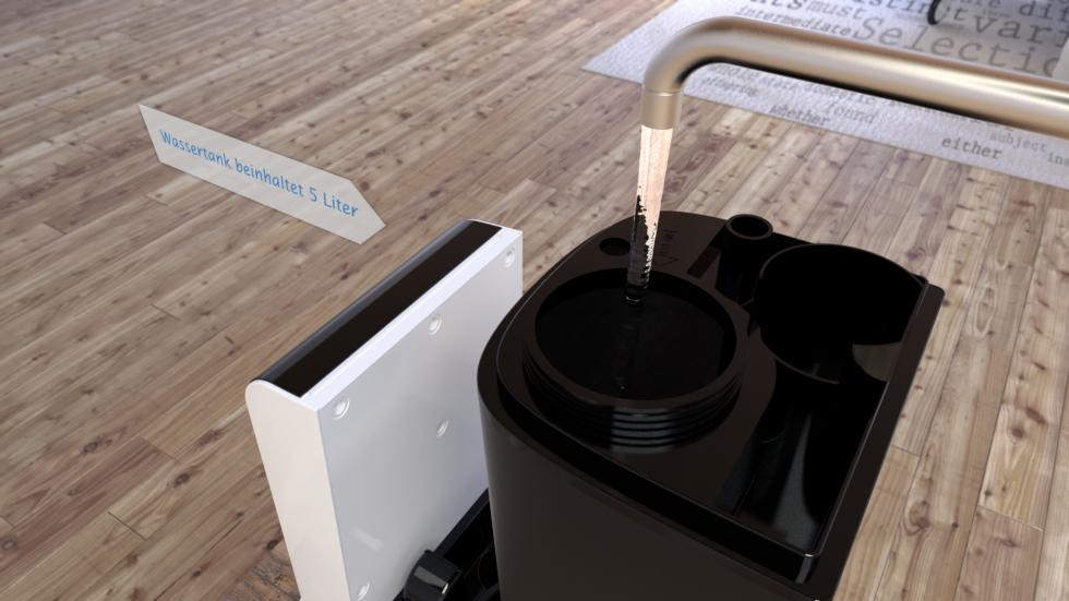 Der Ultraschall Luftbefeuchter mit Ionisator CA-605 von Clean Air Optima ist geeignet für den Gebrauch in Räumen bis 65m²/160m³