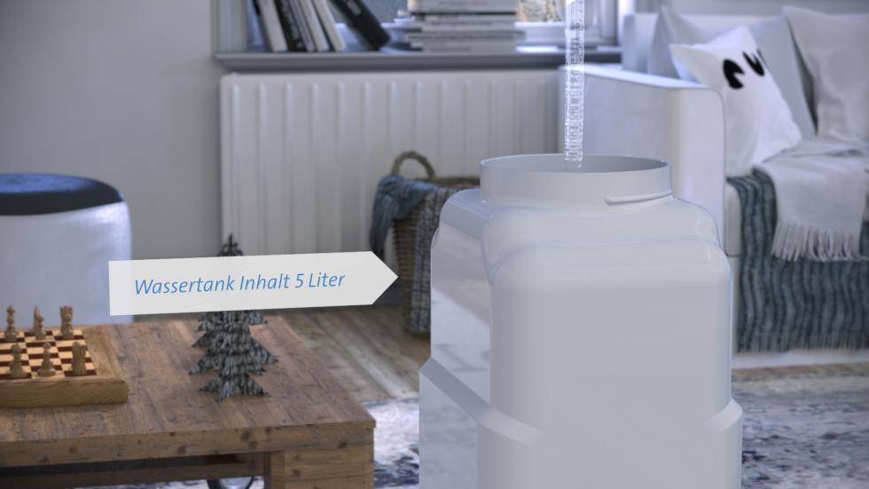 Intensive Luftreinigung, Abnehmbarer Wassertank für Einfache Befüllung CA-807